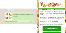 WhatsApp tem novo golpe que usa emoticons de Natal como isca