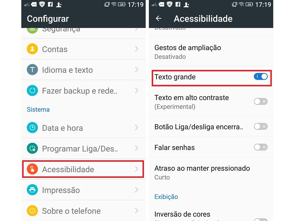 66d0d7b87 Aprenda a aumentar o tamanho das letras do seu Android