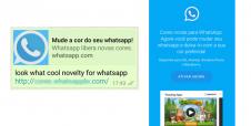 Novo golpe do WhatsApp promete mudar a cor da tela do app