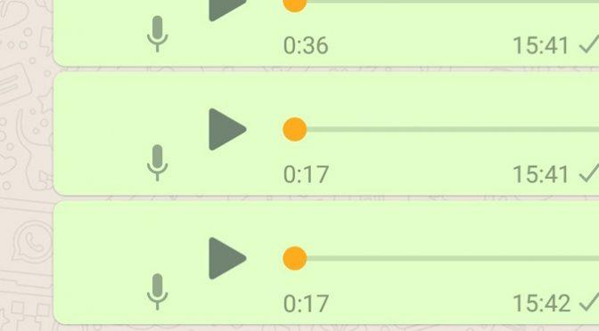 Bolinha laranja no WhatsApp